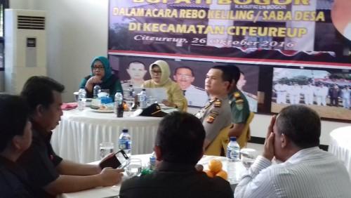 Kunjungan Kerja Bupati Bogor dalam Acara Boling/ Saba Desa di Kecamatan Citeureup